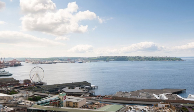 View of Seattle and water