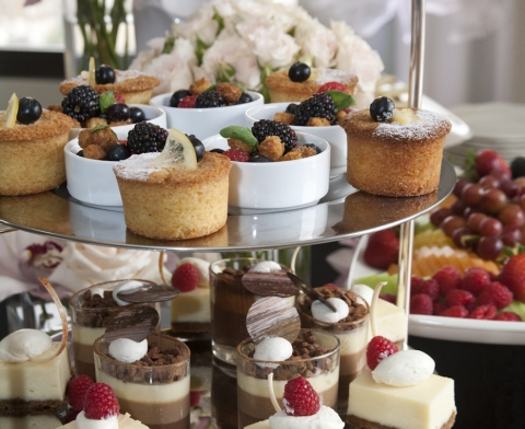 Plate Of Fruit Tarts