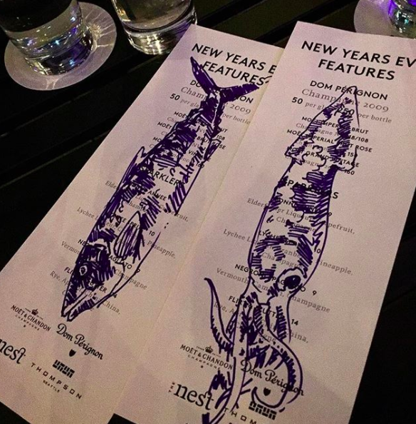 NYE Menu Art