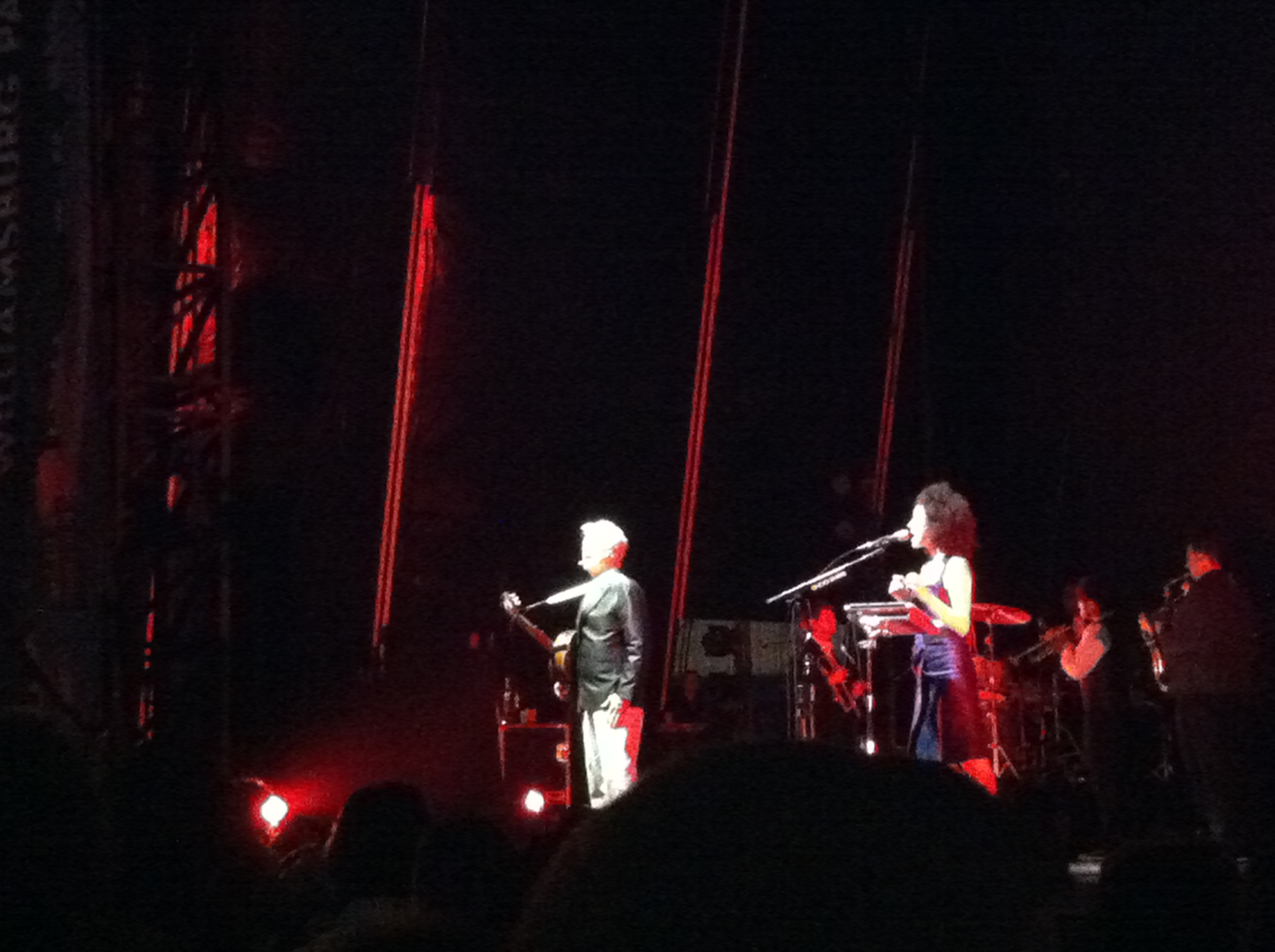 St. Vincent & David Byrne @ Williamsburg Park, c/o Michael Boyce