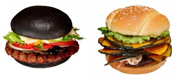 Burger King Japan's black burger and pumpkin burger