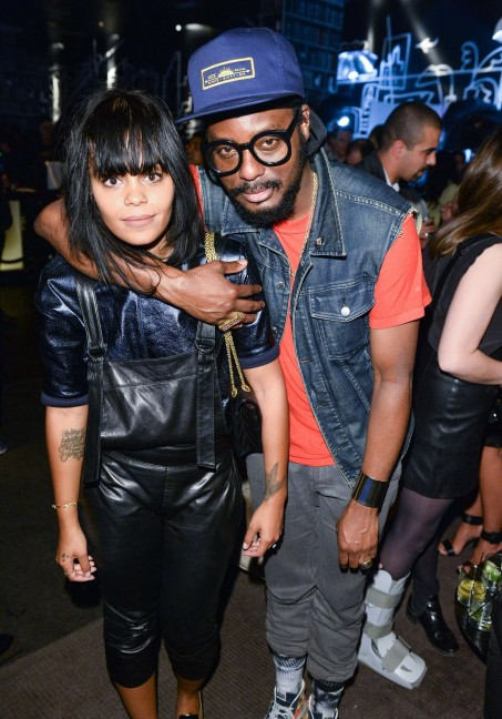 Singers FeFe Dobson and K-Os at the after party