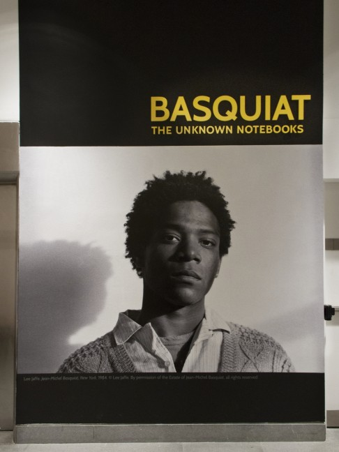 Basquiat The Unknown Notebooks Installation. Photo by Jonathan Dorado. Courtesy of the Brooklyn Museum