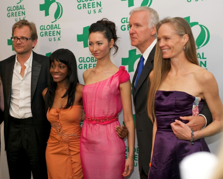 Aine with with James Cameron and Suzy Amis-Cameron