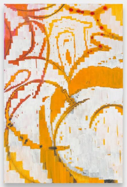 Keltie Ferris, Salt fire, 2013, Oil acrylic on canvas.