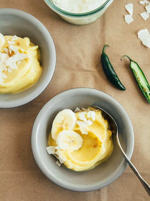 Spiced Pineapple-Banana Sorbet, Inspired by Playa Del Carmen