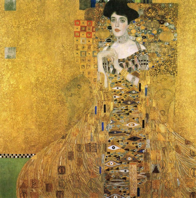 Klimt portrait of Adele Bloch Bauer at Neue Gallery