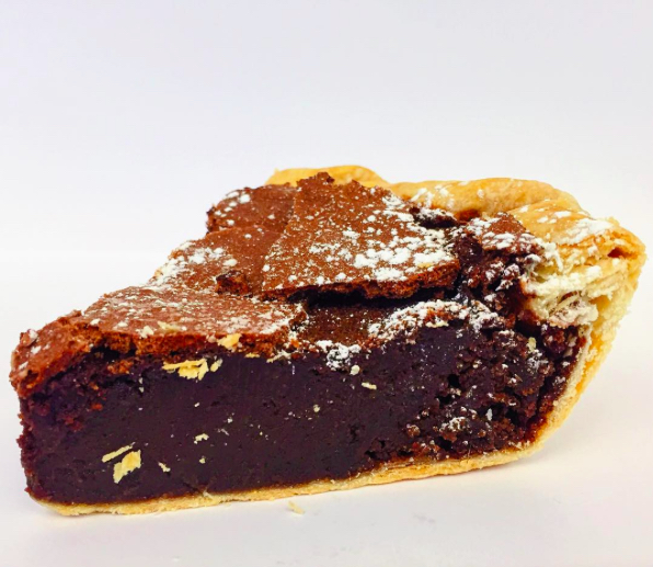 Chocolate chess pie from @hoosiermamapie